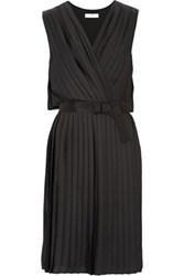 Day Birger Et Mikkelsen Pleated Washed Satin Dress Black