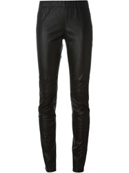 Amen Sheepskin Leggings Black