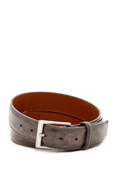 Magnanni Washed Leather Belt Gray