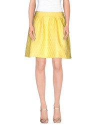 Frankie Morello Skirts Knee Length Skirts Women Yellow