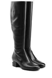 Alexander Wang Leather Boots With Cutout Heel Black