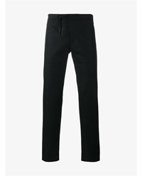 Maison Martin Margiela Straight Wool Trousers Black White Beige