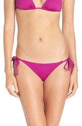 Becca Women's 'Color Code' Side Tie Bikini Bottoms Mulberry