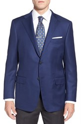 Men's Hickey Freeman 'The Traveler' Classic Fit Solid Wool Sport Coat Navy