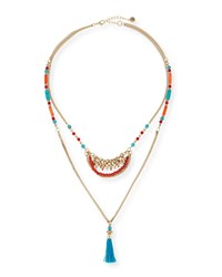 Double Strand Tribal Necklace Jules Smith Red