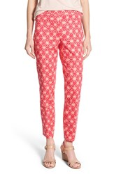 Women's Chaus 'Courtney Stars' Print Side Zip Ankle Pants