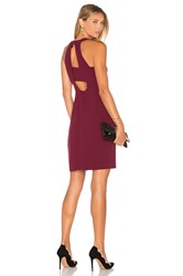 Greylin Cecilia Halter Dress Wine