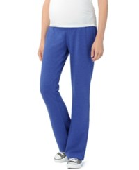 Motherhood Maternity Heathered French Terry Pants Cobalt