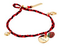 Marc Jacobs Mj Coin Fine Macrame Bracelet Black Gold