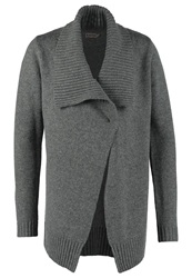 Kiomi Chunky Cardigan Grey Melange Mottled Grey