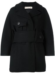 Marni Maxi Belt Coat Black