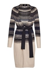 Great Plains Nordic Fair Isle Longline Cardigan Blue