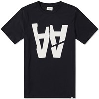 Wood Wood Aa Rip Tee Black