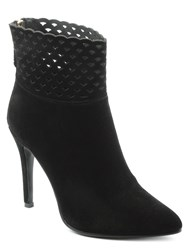 Df By Daniel Highgrove Perforated Ankle Boots Black