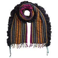 East Stripe Woven Ruched Scarf Multi