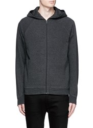 Alexander Wang Washed Cotton Jersey Zip Hoodie Grey