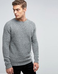 United Colors Of Benetton Crew Neck Jumper With Multi Coloured Fleck Mid Grey 69W