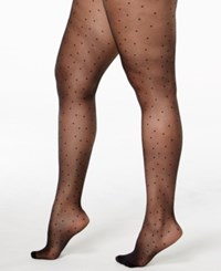 Pretty Polly Plus Size Curves Pinspot Tights Black