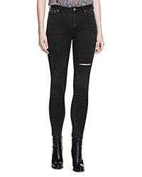 The Kooples Distressed Franky Skinny Jeans In Anthracite