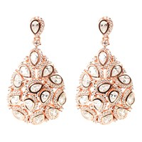 Latelita London Peacock Earring Rosegold White Rose Gold