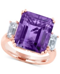 Effy Collection Effy Amethyst 6 5 8 Ct. T.W. And White Topaz 1 Ct. T.W. Ring In 14K Rose Gold Purple