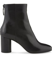 Sandro Sacha Leather Heeled Ankle Boots Noir