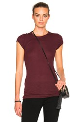 Enza Costa Rib Fitted Cap Sleeve Tee In Red