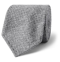 Drakes 8Cm Wool And Cashmere Blend Tie Gray