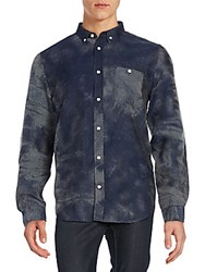 7 For All Mankind Regular Fit Mineral Oxford Sportshirt Night Navy