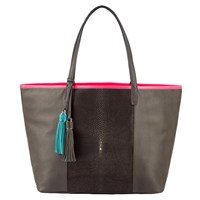 Lili Radu Stingray Shopper Grey Neon Fuchsia