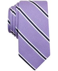 Bar Iii Men's Eddington Stripe Skinny Tie Only At Macy's Lilac