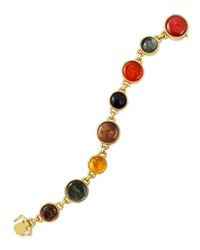 Elizabeth Locke Venetian Glass Intaglio Tennis Bracelet Neutral