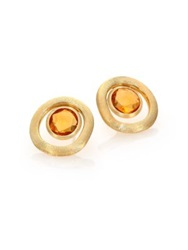 Marco Bicego Jaipur Color Citrine And 18K Yellow Gold Stud Earrings