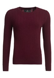 Superdry Luxe Mini Cable Cashmere Jumper Red