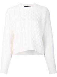 Alexander Wang Chunky Cableknit Sweater White