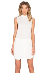 Shades Of Grey Drop Waist Mini Dress White