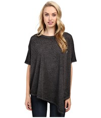 Jag Jeans Isabelle Poncho Tee Burnout Jersey Black Women's T Shirt