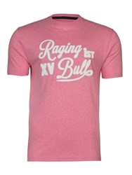 Raging Bull Script Applique T Shirt Pink