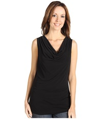 Calvin Klein Cowl Neck Sleeveless Top Black Women's Sleeveless