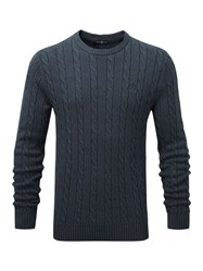 Henri Lloyd Men's Kramer Regular Crew Neck Knit Navy