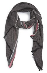 Women's Renee's Accessories Stripe Crinkle Scarf Black