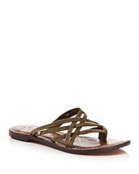 Sam Edelman Georgette Strappy Thong Sandals Moss Green