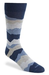 Men's Etiquette Clothiers 'Seismic' Socks Blue Blue Night