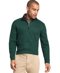 Van Heusen Spectator 1 4 Zip Sweater Green Gables Heather