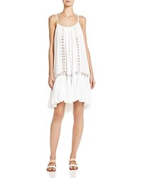 Boho Me Crocheted Trim Dress Swim Cover Up White