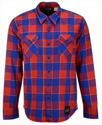 Levi's Men's Buffalo Bills Plaid Barstow Western Shirt Blue
