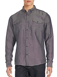 Sovereign Code Quilted Slim Fit Sport Shirt Blue