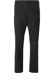 Barena Cropped Straight Leg Trousers Black