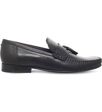 Ted Baker Simbaa Tassel Leather Penny Loafers Black