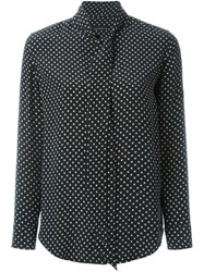 Equipment By Kate Moss Star Print Shirt Black